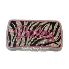 Swarovski Zebra Print Personalized Case -- Baby Bling Things Boutique Online Store