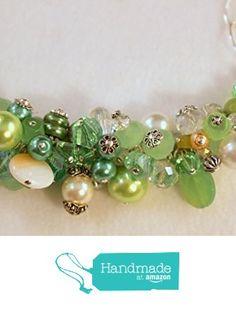 Handmade Green Cluster Necklace from S L Jewelry Designs http://www.amazon.com/dp/B017DWYISC/ref=hnd_sw_r_pi_dp_T5rnwb0D24JM7 #handmadeatamazon