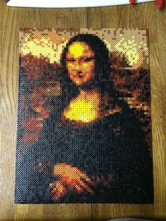 Mona Lisa portrait perler beads by by killercard53