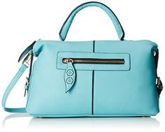 MG Collection Alaia Bowling Shoulder Bag Turquoise One Size *** Visit the image link more details.