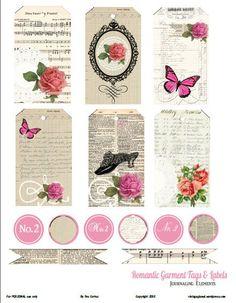 FREE printable romantic vintage garment tags: romantic-garment-tags-prev