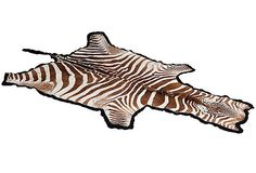Vintage Authentic Zebra Rug - Mary McDonald