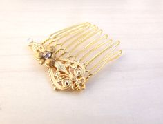 15 OFF Gold Hair Comb Filigree Hair Comb Wedding by YaelSteinberg, $32.00