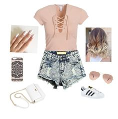 """""""Untitled #116"""" by rekac on Polyvore featuring NLY Trend, adidas, Ray-Ban and New Look"""