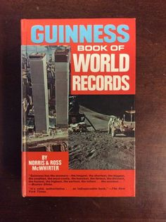1972 GUINNESS BOOK OF WORLD RECORDS Hardbound By McWhirter, Eleventh Edition