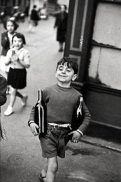 Henri Cartier-Bresson, Rue Mouffetard, Paris, 1954, gelatin silver print