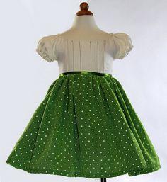 Green toddler dress