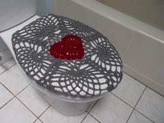 Crochet Toilet Seat Cover Eggplantlight Grey My Handmade - Light grey toilet seat