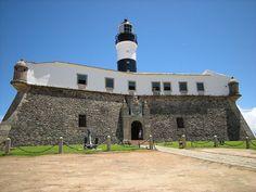 The Forte de Santo Antonio da Barra in Salvador, Brazil, was built by the Portuguese in the late sixteenth century and strategic location: the entrance to the Bay de Todos os Santos.