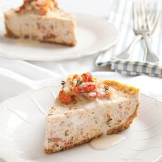 This Crawfish Cheesecake makes unique use of the Cajun crustacean. This Crawfish Cheesecake makes unique use of the Cajun crustacean. Crawfish Recipes, Cajun Recipes, Seafood Recipes, Appetizer Recipes, Cooking Recipes, Crawfish Bread, Cajun Crawfish, Crawfish Etouffee, Seafood Meals