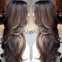 Balayage with low lights balayage: A type of hair highlighting that looks more natural. More color is added to the end of the hair rather than the root. Originated from France. by noelle