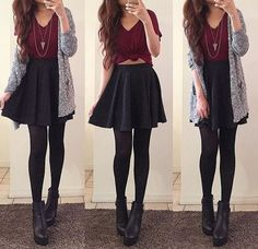Mode Fashion Style Ideen Rock Outfits Black Skater für 2019 # Rock The Rise of Silver Article Bo Black Skirt Outfits, Black Skater Skirts, Rock Outfits, Teen Fashion Outfits, Cute Casual Outfits, Look Fashion, Dress Outfits, Fall Outfits, Dress Up