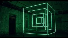 HYPERCUBE. The Hypercube is an aluminium concentric cubic sculpture illuminated with more than 120 metres of programmable LED. The minimalis...