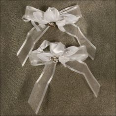 Accent Bows - Romance - White