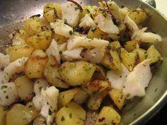 Morue aux pommes de terre et aux oignons