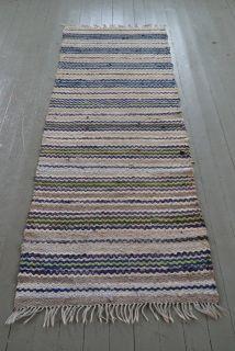 Large Vintage II - SVENSKA TRASMATTOR Rag Rugs, Rug Making, Weave, Hand Weaving, Recycling, Carpet, Vintage, Fabric, Handmade