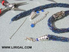 Photo tutorial for finishing any beaded rope.  While many of the beaded closures are beautiful, this approach is always more durable.  #Seed #Bead #Tutorials