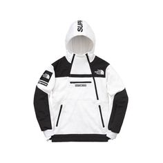 Supreme Supreme /The North Face Steep Tech Hooded Sweatshirt ($198) ❤ liked on Polyvore featuring tops, hoodies, hooded pullover, the north face hoodie, the north face hoodies, sweatshirt hoodies and white top