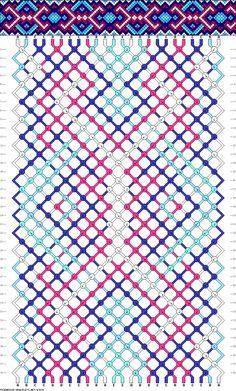 Muster # 83529 , Streicher: 24 Zeilen: 38 Farben: 5