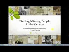 Have you searched the #census for a specific relative only to come up empty-handed? Join Crista Cowan as she shares some of her hottest tips for finding those elusive #ancestors.  #genealogy