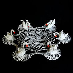 crocheted centrepiece