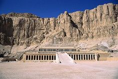 Corbis images. Royalty-free. Exterior of Mortuary Temple of Queen Hatshepsut. Africa.