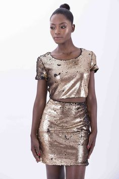 Gold Sequin Skirt, Sequins, Skirts, Collection, Fashion, Moda, Fashion Styles, Skirt