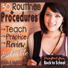 Routines + procedures focuses on clarity, relevance, common sense, and big-picture thinking. Three designs: whitewashed fence, gold glitter, and brick. You can choose to hand out pre-printed procedures, a form which requires students to write the procedures, large or small print, plus task cards are provided if you want to hand the procedures out individually of one another. Everything is editable so you can revise to fit your needs.