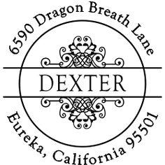 Dexter Vintage Circle Address Stamp picture