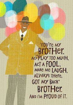 Brother Love Birthday Card Large Cards For