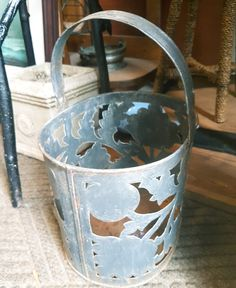 Cute bucket, great for the garden! Lots of lovely treasures like this hiding in store #collingwood #wasagabeach #treasuretrove #garden #rustic #cottage