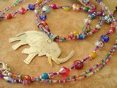 Boho Colorful Necklace Bohemian Hippie Beaded by BohoStyleMe