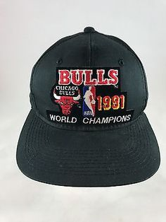 Vtg 1991 Sports Specialties Chicago Bulls Champions NBA Snapback Cap Hat Black | Clothing, Shoes & Accessories, Men's Accessories, Hats | eBay!