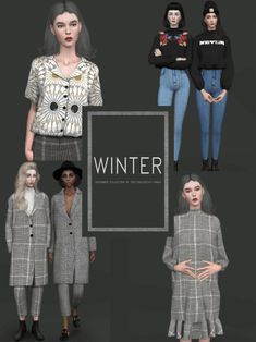 Winter Fashion November Collection for The Sims 4