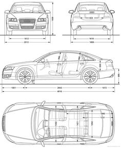 Car blueprint blueprints cars pinterest cars mk1 and vehicle audi a6 2008 malvernweather Choice Image