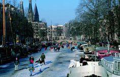 Canal skating, Amsterdam