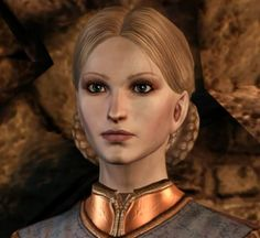 """Anora Theirin (née Mac Tir) is the wife of King Cailan Theirin and daughter of Loghain Mac Tir. She is the Queen of Ferelden, a consummate ruler and committed to ensuring economic security for Ferelden. Writer Sheryl Chee has said that when going out for a drink Anora would """"skip the beer and go straight to tequila shots."""" Writer David Gaider states that, """"the most important thing to know about Anora is that she is her father's daughter."""""""