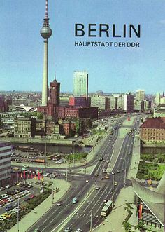 Berlin, Haupstadt der DDR. West Germany had to make do with Bonn.