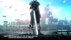 Final Fantasy: Crisis Core title screen