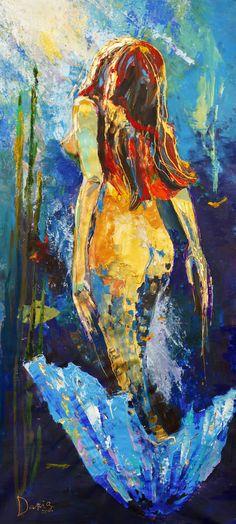 Daria Bagrintseva, Little Mermaid, 90x200cm, Nude & Erotica, Acrylic on canvas, Neo-Expressionism, 2011