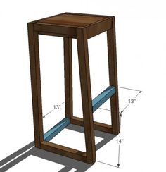 Ana White Build a Simple Modern Bar Stools Free and Easy DIY Project and Furniture Plans Diy Bar Stools, Outdoor Bar Stools, Diy Stool, Modern Bar Stools, Bar Chairs, Room Chairs, Side Chairs, Bar Furniture, Furniture Plans