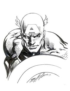 Captain America by Neal Adams * - Visit to grab an amazing super hero shirt now on sale!
