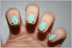 Cute alternative french manicure idea