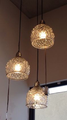 Love these lights for over the table/island.