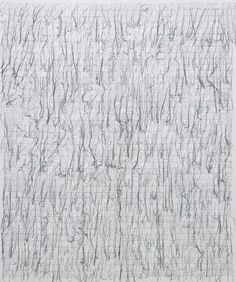 GHADA AMER The Definition of the Word Fear in English  2007  Embroidery and gel medium on canvas