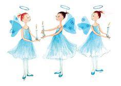 THE NUTCRACKERAngelsPrinted Card3 Ballerina by TheArtfulBumblebee, $4.00