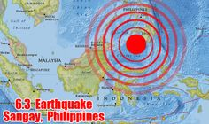 A strong 6.3 magnitude earthquake struck west of the Philippines Monday evening, but does not pose a tsunami threat to Hawaii, according to officials at the Pacific Tsunami Warning Center.