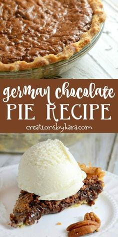 german chocolate cheesecake Recipe for German Chocolate Pie - if you love German chocolate cake, you must try this pie. Every bite is decadent and unforgettable! Easy Chocolate Desserts, Chocolate Pie Recipes, Köstliche Desserts, Delicious Desserts, Dessert Recipes, Homemade German Chocolate Cake, Cheesecake Recipes, German Chocolate Cheesecake, German Chocolate Pies