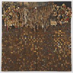 Leonardo Drew - Number 74, 1999, Wood, steel wool,... on MutualArt.com