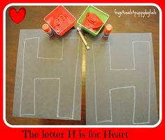 Letter H craft and more
